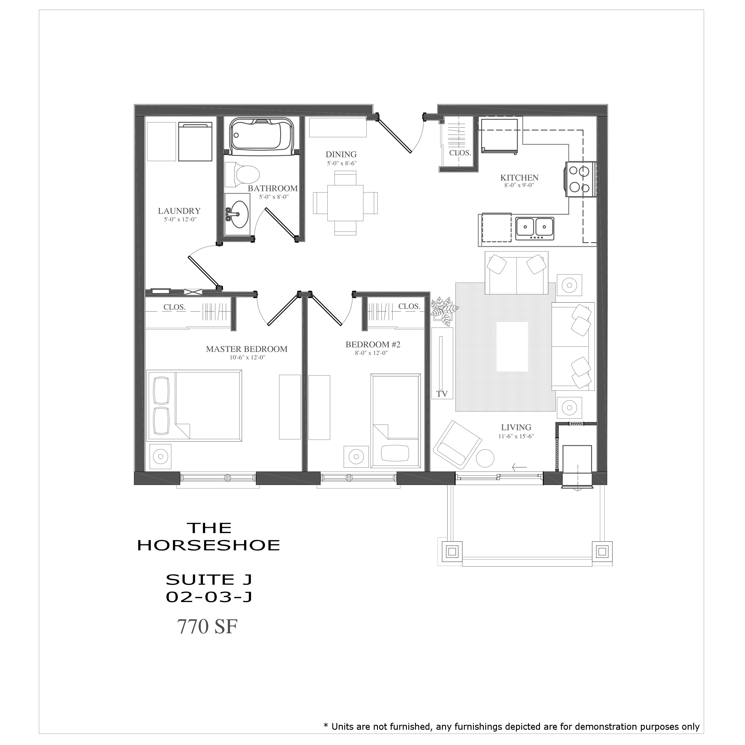5 x 8 bathroom floor plans - The Horseshoe Preview